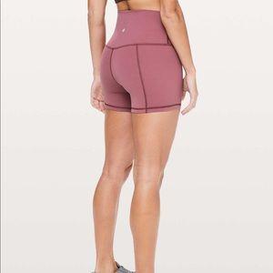 "Lululemon Align shorts 4"" Misty Merlot size 6"